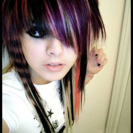 Emo Scene Hairstyles for Girls