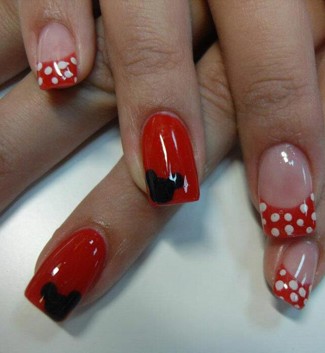 Decoraci n de u as minnie nails - Decpracion de unas ...
