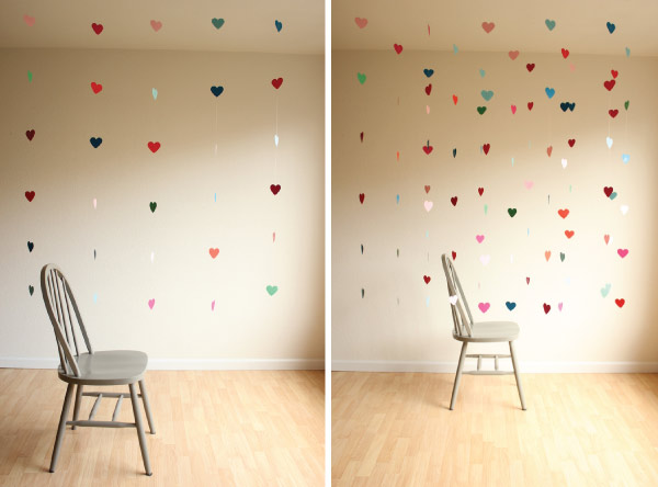 Como decorar mi habitaci n una linda cortina de corazones for Ideas para decorar las paredes de mi cuarto