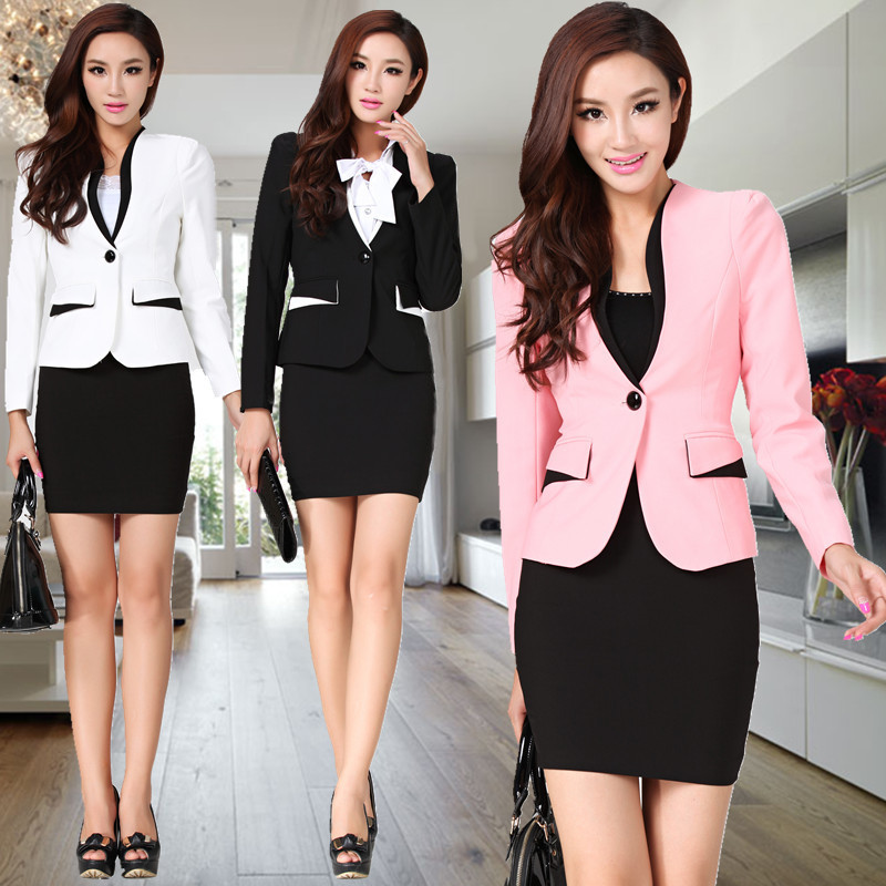 fashion-New-2014-fall-women-business-suit-for-women-outfit-sets-coat-and-skirt-blazers-elegant